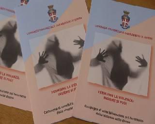Violenza alle donne, al via campagna di sensibilizzazione dei carabinieri