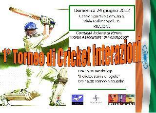 Primo torneo di cricket a Riccione