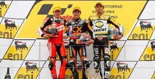 Moto2. Alex De Angelis terzo nel Gp di Germania