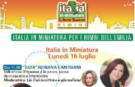 Terremoto, Italia in Miniatura sostiene la ricostruzione con Tata Adriana