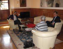 Console Usa a Firenze in visita ufficiale. Ricevuta dal sindaco Gnassi