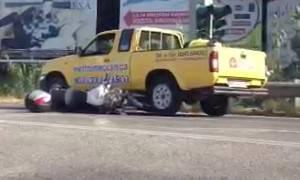 Incidente sulla SS16 tra moto e auto. Qualche disagio per il traffico