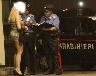 Il maltempo non ferma la prostituzione. Denunce e sanzioni dei Carabinieri
