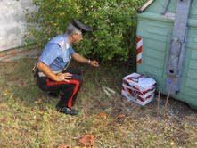 Due vecchie bombe da mortaio trovate a Poggio Berni vicino a cassonetto