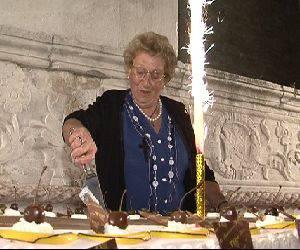 Familiari, amici e volontari hanno festeggiato Marilena Pesaresi