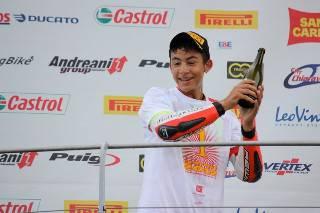 Enea Bastianini vince il titolo nel monomarca Honda 125