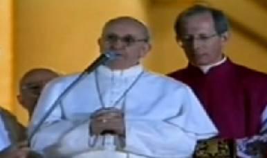 La benedizione di Jorge Mario Bergoglio, Papa Francesco