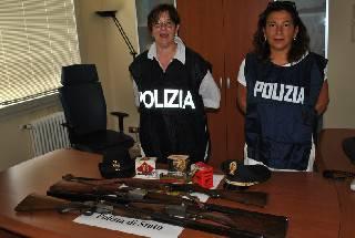 Armi da fuoco in casa senza autorizzazione, denunciati tre uomini