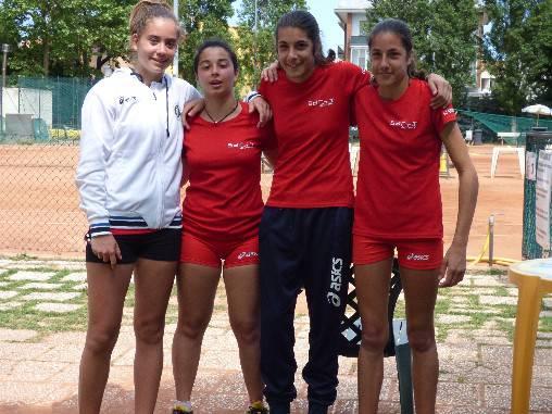 Tennis. Impresa della squadra di C femminile del CT Casalboni a Milano