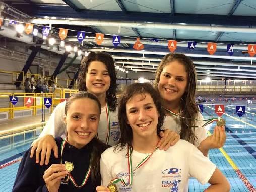 2 argenti e 3 ori per il Nuoto Riccione nelle finali dei Camp. reg. Esordienti A
