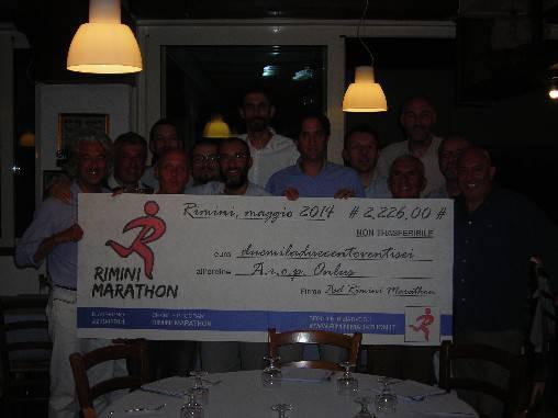 Rimini Marathon, raccolti 2.260 euro per Arop