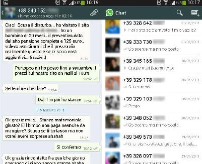 Con Whatsapp alla notte rosa. 200 gli alberghi che lo usano