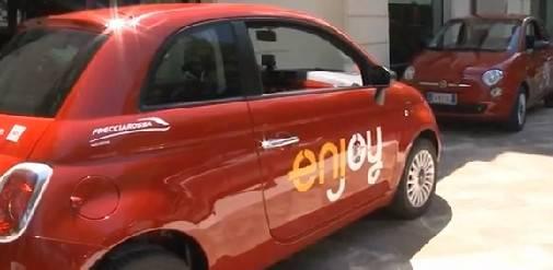 Il car sharing torna in 500. Fino a settembre il servizio di Enjoy