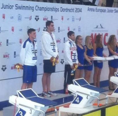 Nuoto. Europei Junior: Sabbioni argento nella finale dei 100 dorso