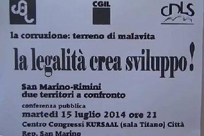 A San Marino un incontro sulla legalità col viceprocuratore De Lucia