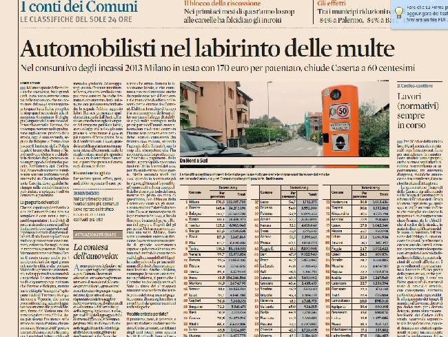 La classifica delle multe. Rimini 22esima, prima Milano
