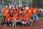 I padroni di casa del Torre Pedrera Falcons tutti rigorosamente con la t-shirt comemorativa - ©Pier Andrea Morolli/SKCS Sport Images