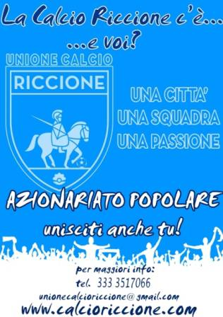 Il manifesto dell'Unione Calcio Riccione
