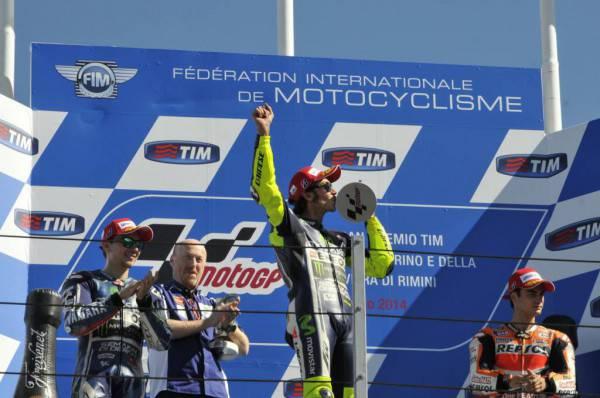 Il podio della MotoGP a Misano