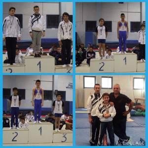 Thomas, Alessandro, Emmanuele  e Simone con gli allenatori Di Pumpo e Pellizzola