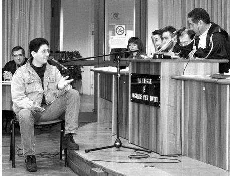 Fabio Savi durante il processo