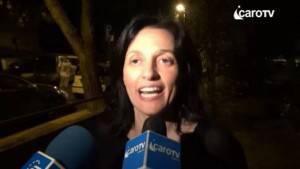 Renata Tosi la sera dell'elezione