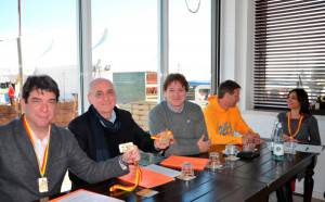 Da sinistra, assessore al Turismo, Claudio Montanari, Presidente Promhotels, Cesare Ciavatta, il Direttore di Funtec, Ralf Esser e il Direttore commerciale di Alpetour Jorn Knissel