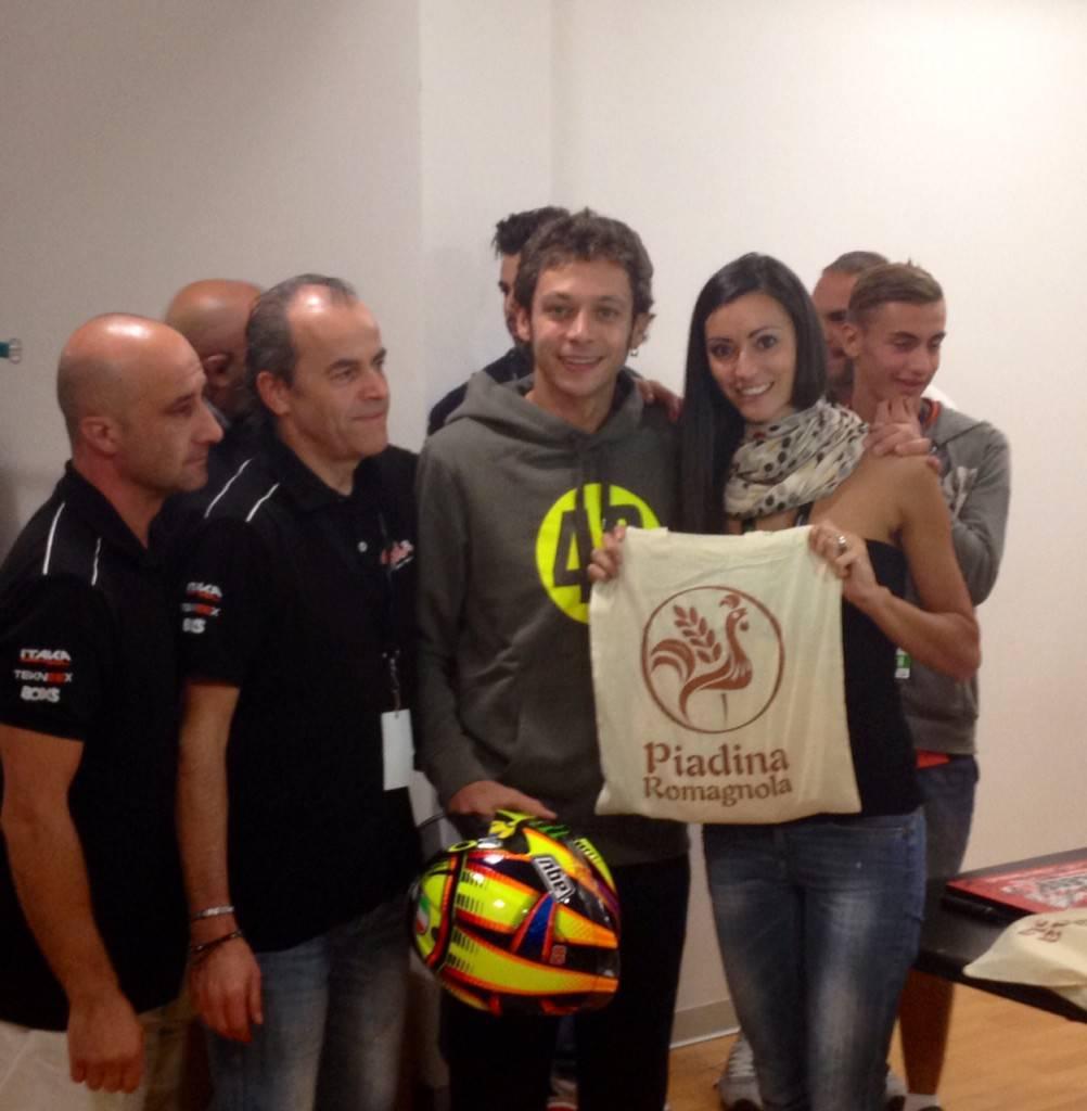 Valentino Rossi, piadina romagnola igp