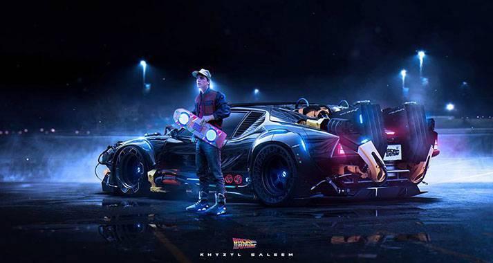 La DeLorean di Ritorno al Futuro a Ecomondo 2015