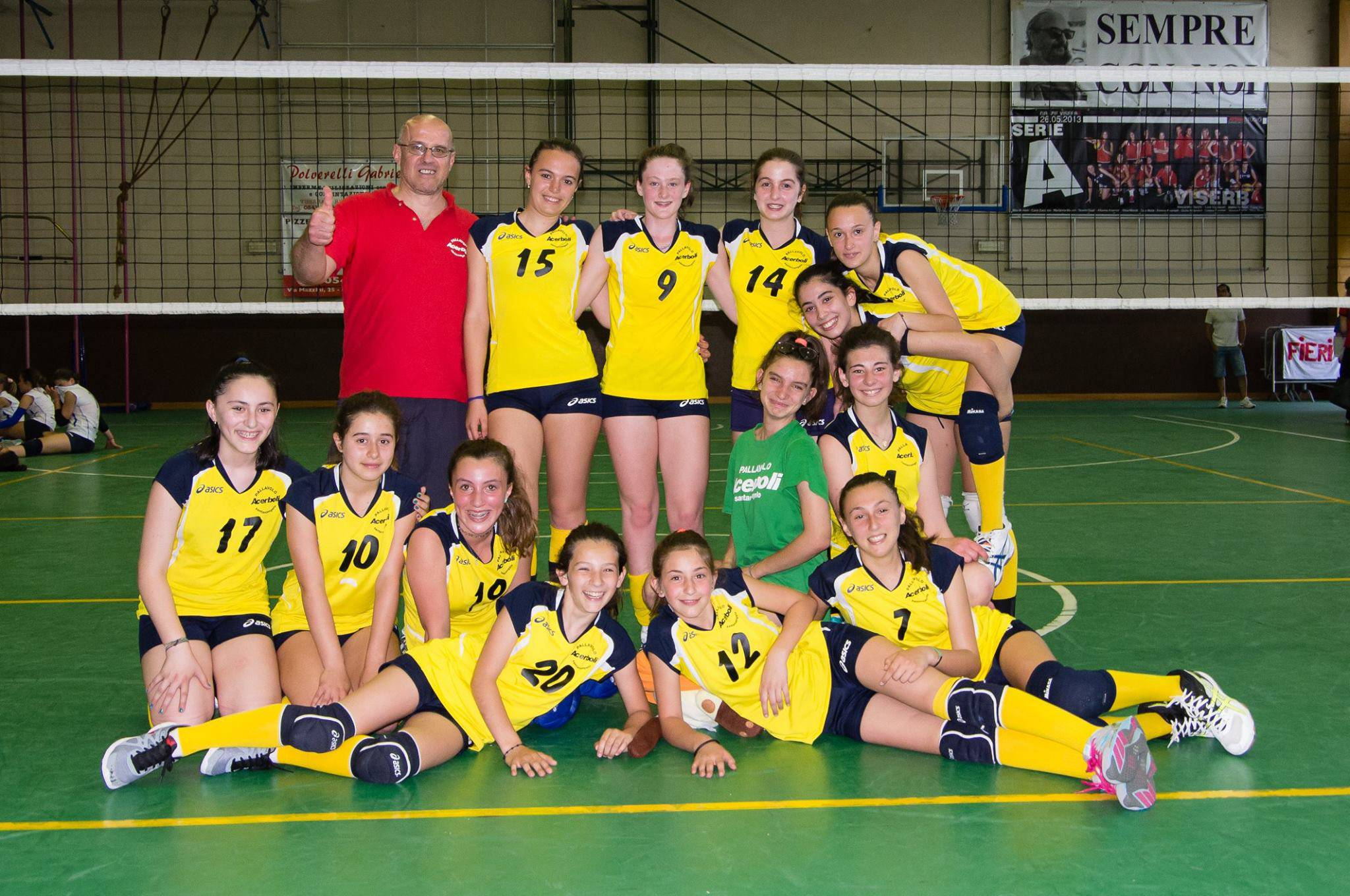 L'Under 13 dell'Acerboli Volley ASD
