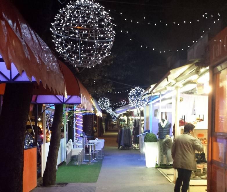 Le luminarie natalizie a Rimini