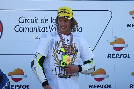 Nicolò Bulega campione del mondo Junior