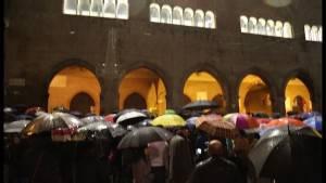 Tanti colori, anche negli ombrelli