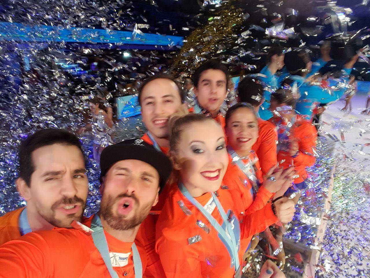 Davide Giannoni sul podio all'International Roller Cup di Modena