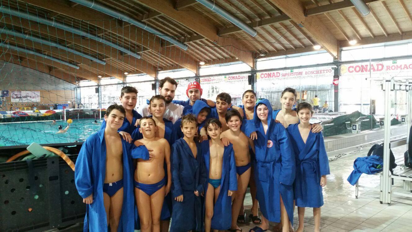 La Tisanoreica Riccione Under 13 strapazza la Nuotatori Ravennati (24-8)