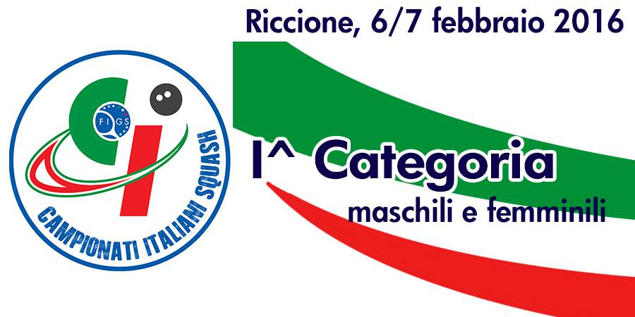 I Campionati Italiani Individuali di 1a categoria