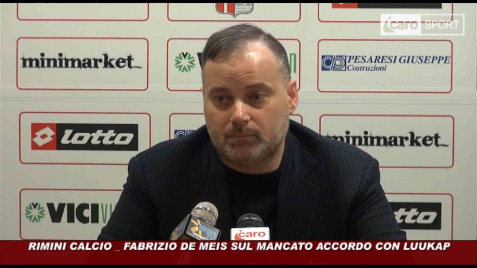 Rimini Calcio. La verità di De Meis sul mancato accordo con Luukap