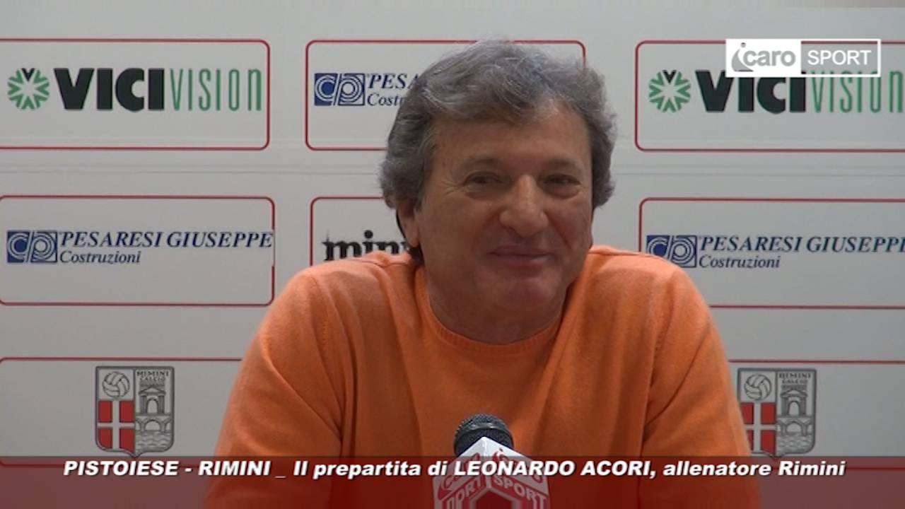 Pistoiese-Rimini. Acori alla vigilia: