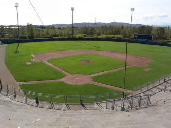 lo stadio del baseball di Rimini