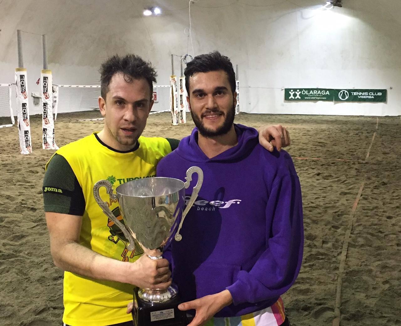 Beach Tennis. Federico Urbini e Luca Bonori vincono l'11a edizione del campionato invernale