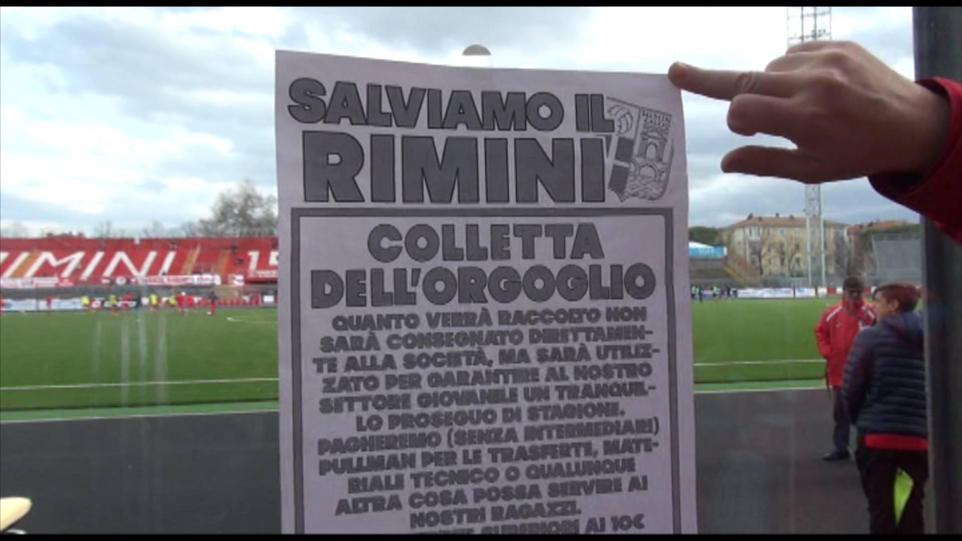 Rimini Calcio. La Colletta dell'Orgoglio continua. I tifosi preparano anche altre iniziative