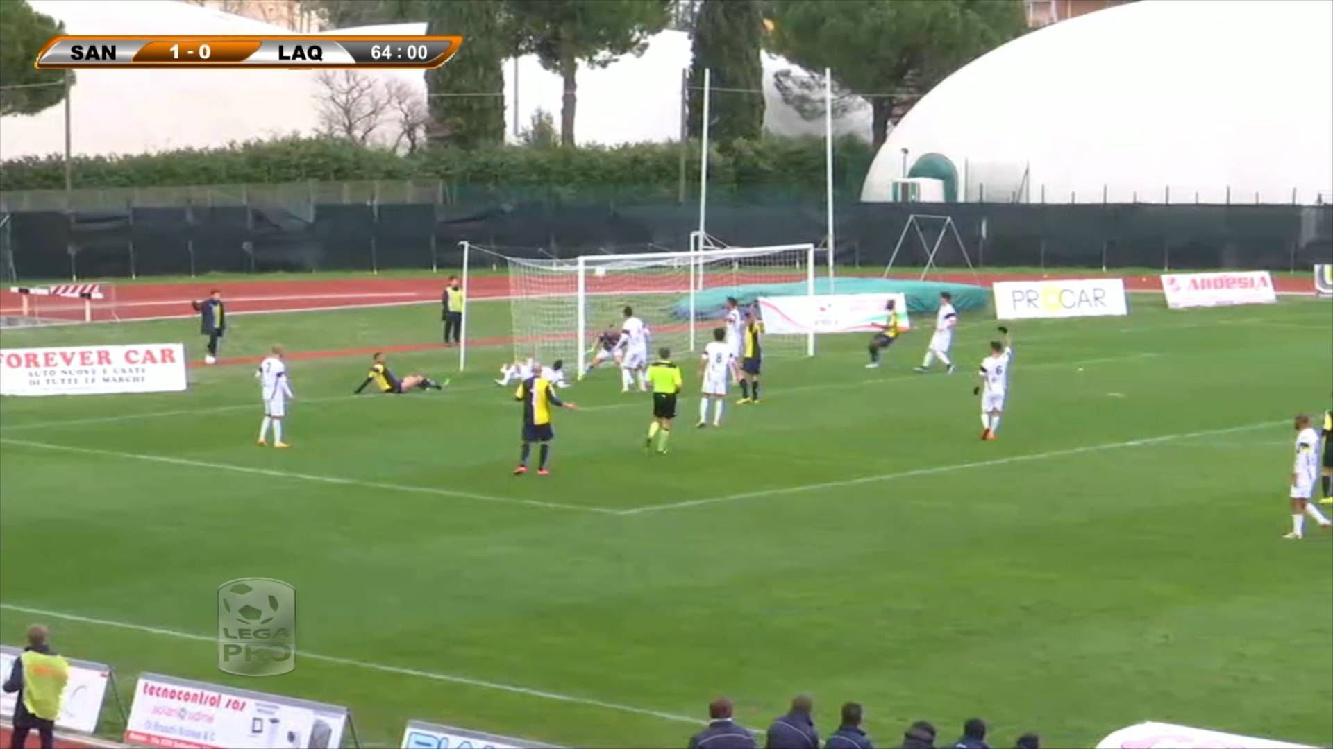 Santarcangelo-L'Aquila 2-0