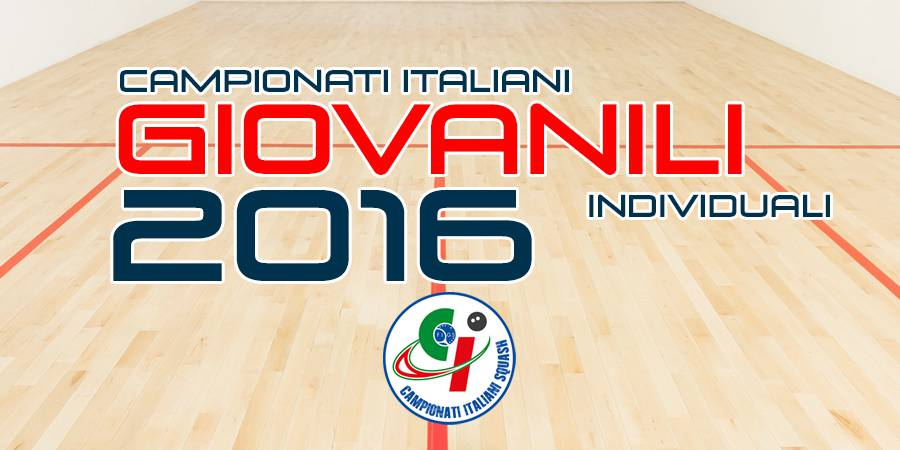 Campionati Italiani Giovanili Individuali 2016