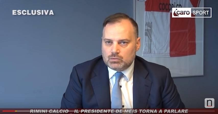 Esclusiva Icaro Sport. Rimini Calcio, il presidente De Meis torna a parlare