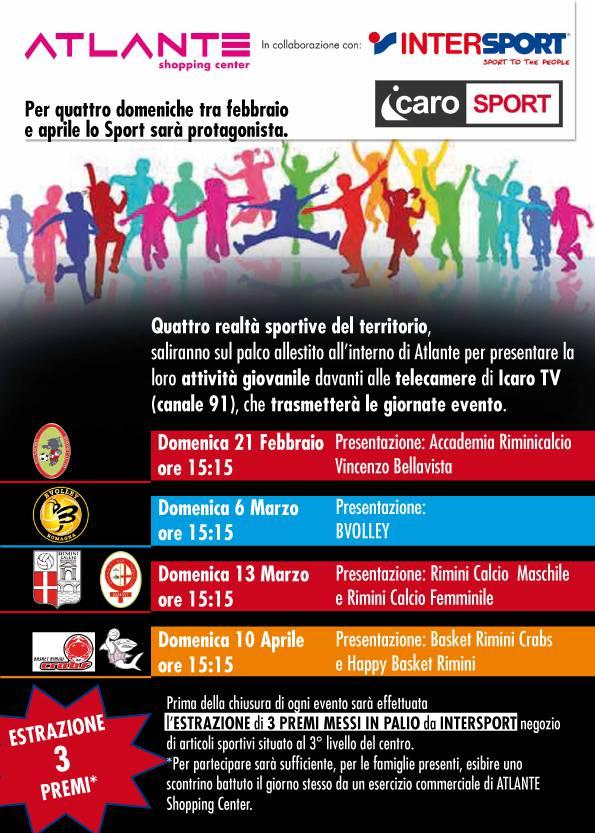 Terza domenica di sport al Centro Atlante. Ospite il Basket Rimini Crabs