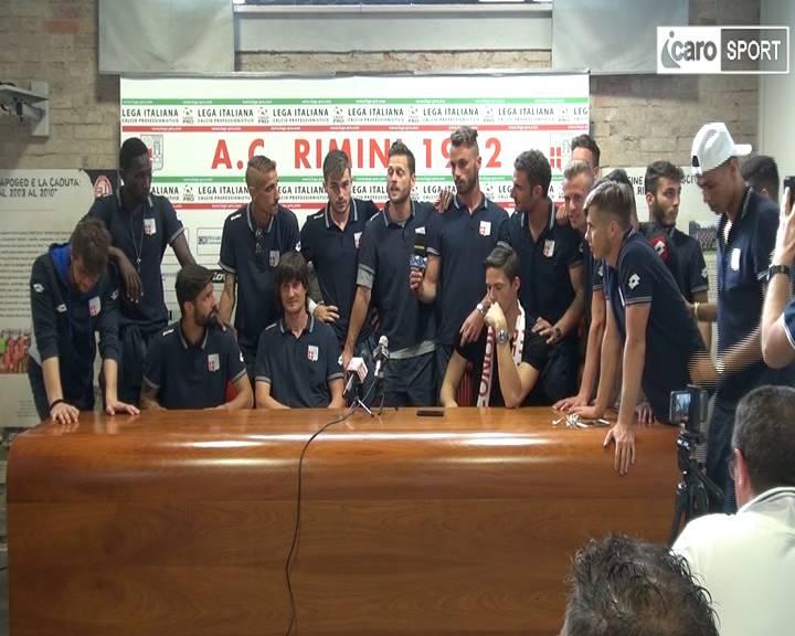 I giocatori del Rimini: