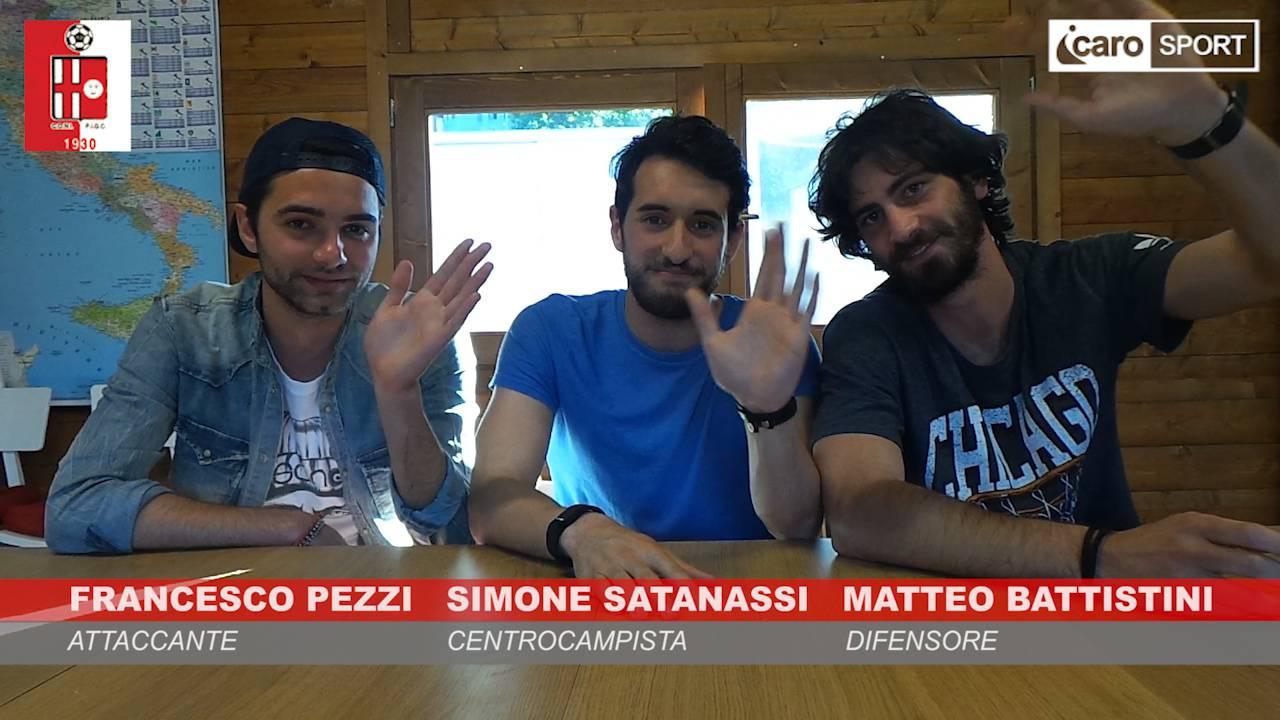 Francesco Pezzi, Simone Satanassi e Matteo Battistini