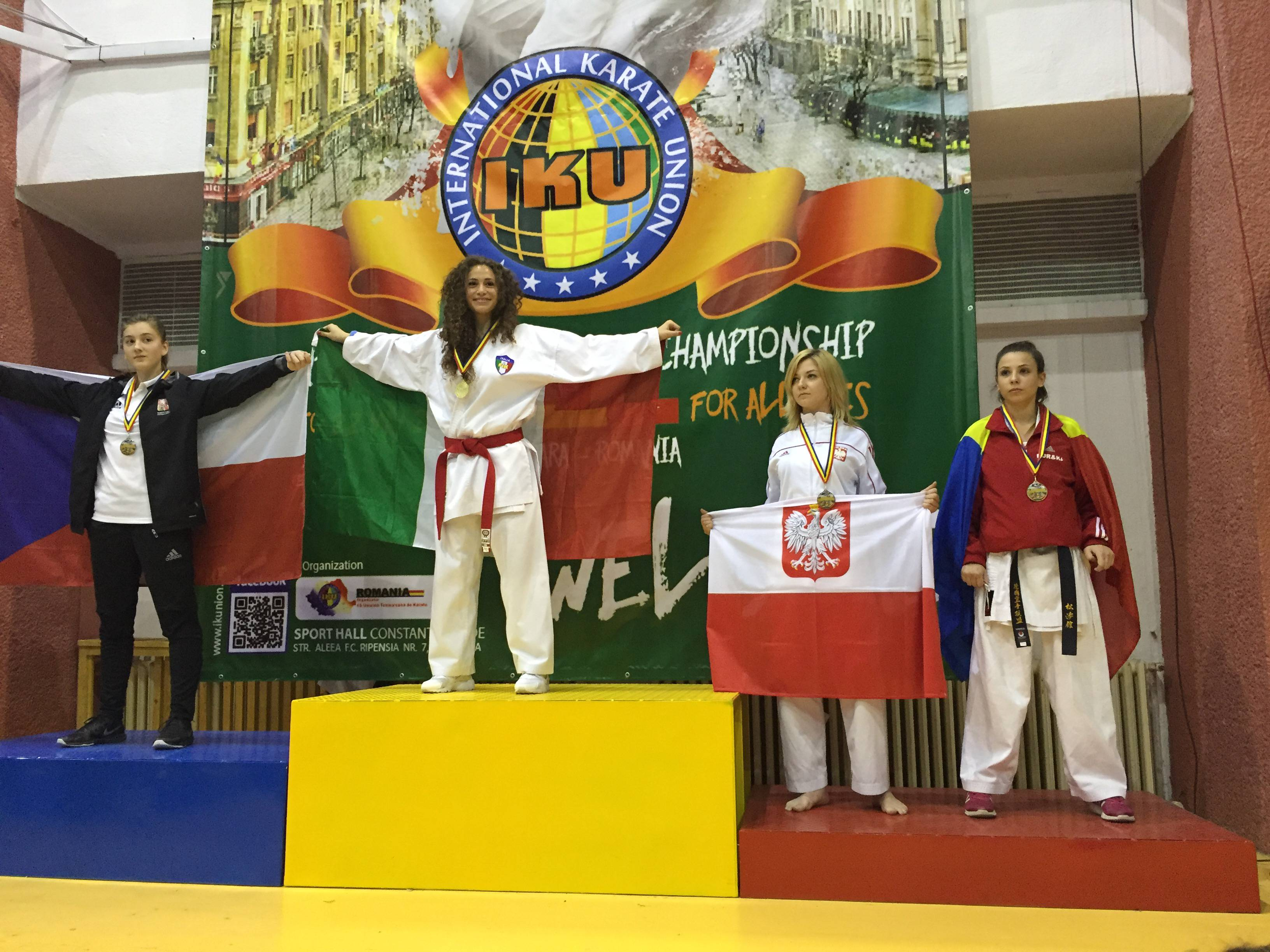 Karate kumite: la riminese si conferma anche nella categoria juniores e vince il titolo Europeo IKU.