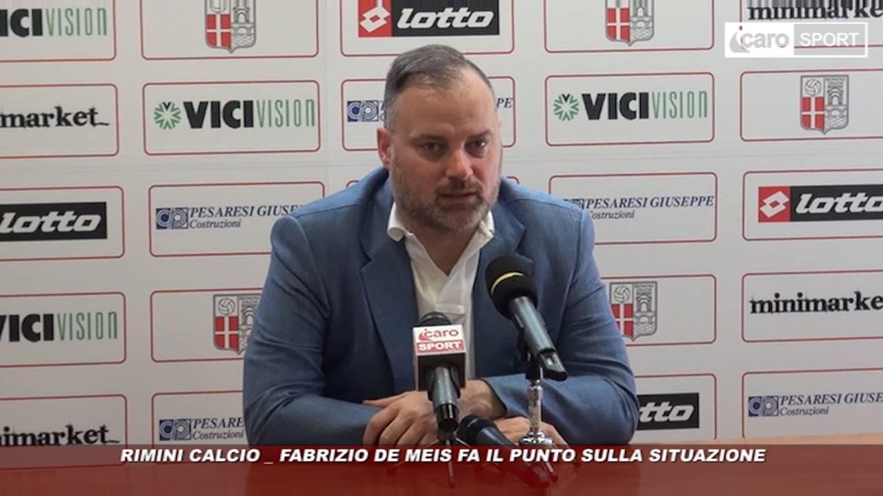 Rimini Calcio. De Meis: