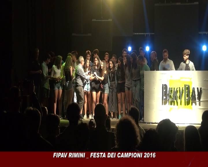 Si è svolta martedì sera al Beky Bay di Bellaria Igea Marina la Festa dei campioni 2016, la serata di premiazioni organizzata dalla FIPAV Rimini